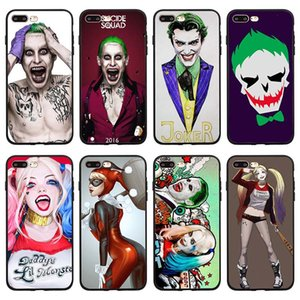 Persönlichkeit quinn suicide squad joker case für iphone 7 8 plus 6 6 s x xs max xr weiche transparente abdeckung für iphone tpu muster zurück case