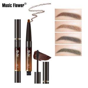 Musique double capitule maquillage automatique sans fleurs crème sourcils crayon à sourcils imperméable à l'eau