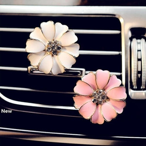 Car Perfume Clip Home Essential Oil Diffuser For Car Outlet Locket Clips Flower Auto Air Freshener Conditioning Vent Clip 3colors GGA2580