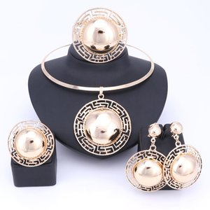 Wedding Bridal Wedding Jewelry Sets Jewelry Sets Sets For Women Necklace Bracelet Earrings Rings Gold Color Dubai African Beads Statement Ac