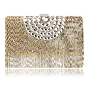 Diseñador de moda borla de las mujeres bolsa de diamantes de imitación con cuentas señora de bolsos de cadena del hombro Pequeño Día embrague noche bolsa para el partido Wedding01