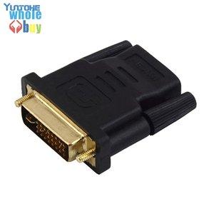 DVI A HDMI (DVI 24 + 1 Macho a HDMI 19Pin) Nuevo Convertidor Adaptador M-F chapado en oro para HDTV LCD Nueva Llegada 300pcs / lot