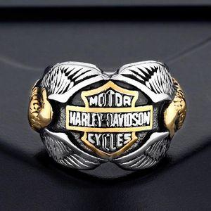 Anillos de acero inoxidable al por mayor, anillos de motocicleta europeos y americanos, anillos de Harley.