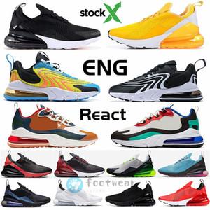 2020 com estoque X 270 Reagir ENG Homens Running Shoes v2 270S Regency roxo Núcleo Branco Triplo Preto v3 mulheres dos homens formadores sapatilhas do desenhista