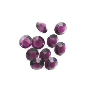 New Arrival 300pcs February Birthstone Dark Purple Crystal Floating Charms Living Glass Memory Lockets Pendants DIY Jewelry Charm