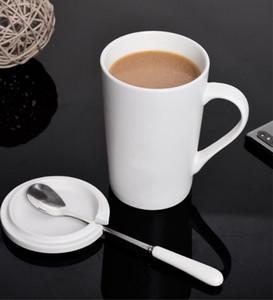 Seramik bardak su bardağı kupa severler ofis tek saf beyaz, sap saf beyaz olmadan tek