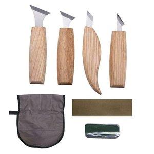Bıçak başlayanlar Bileme Taş Şekillendirici Profesyonel Bıçak Ağaç işleri- Oyma 4adet Ahşap Oyma Araçları Seti Geometrik Çip