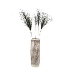 Wholesale 35g bundle home indoor decorative artificial natural flowers Phragmites dried green palm plant leaves decor pampas grass