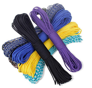 US STOCK 100FT pc 30m 550 paracord Parachute Cord Lanyard Rope Mil Spec Type III 7 Strand core 50 colors for option