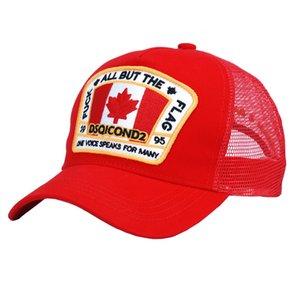 2020 D2 نمط ICON القبعات الساخن كاب البيسبول Snapback القبعات للجنسين العلامة التجارية مصمم كندا نمط قبعة رجال نساء Casquette قبعات رسالة التطريز