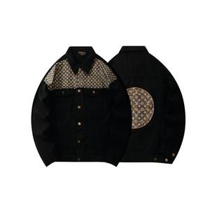 Mens Cowboy Designer Jackets Marca Homens Mulheres Denim Jacket Casual Hip Hop Brasão Jean manga comprida Outdoor Wear Jacket M-XXL Streetwear Jeans
