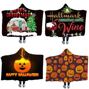 46 Styles 200*150cm Christmas Halloween Towel Blanket Portable Hooded blanket Thread Blankets Children blanket Thick blankets Swaddling M327