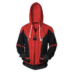 MODE Film SpiderMan Far From Home Cosplay Sweats à capuche Avengers Infinity Superhero Jumpsuit Halloween Tops Spiderman Bodysuit