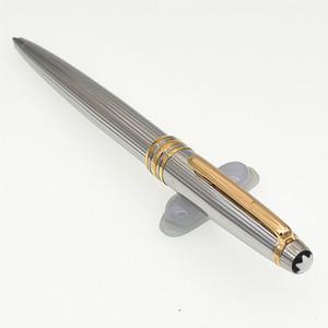 Top marques de stylo de luxe Grade MB lignes d'or métal Stylos à bille / stylo roller stylos design stylos fixes AG925-cadeaux