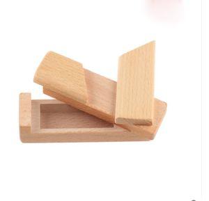 Cryptex en bois Mortice et Tenon Joint mystérieux Organ Box Kong Ming Lock Jouet en bois placé un petit cadeau enfants jouets éducatifs