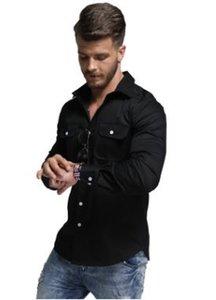 La nuova primavera degli uomini di stile degli uomini nuovi di colore 2019 casuali ha progettato la camicetta alla moda degli uomini
