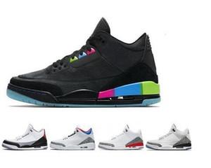 Nike Air Jordan 3  baloncesto del Mens 3 3s Hombres Mujeres Niños cemento negro JTH NRG blanco puro de vuelos internacionales calzado deportivo zapatillas de deporte