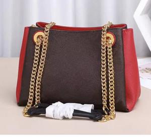 Brand new y elegante BB tote mujeres de cuero genuino pactchwork bolso cadena de hombro bolsas surene pochette bolso de compras bolso grande wolum 43775