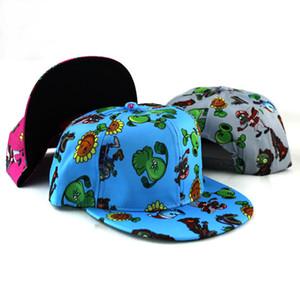 Bitkiler Vs Zombies Kapaklar Çocuk Bahar Yaz Güneş Düz Hip Hop Beyzbol En Serin Yenilik Şapka Kadın Nakış Q190531