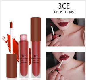 Tamax MP004 10 Colors Lip Gloss Matte Lips Red Lipgloss Waterproof Cosmetics Lip Tint Batom Brown Velvet Liquid Lipstick 3CE Eunhye House