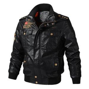 Hot Selling Men's Large Size Leather Coat Spring Casual Washing PU Leather Jacket Biker Coat Trend Men's