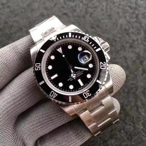 Usine Sub série Silver 116610 116600 Mouvement automatique Cal.2813 Céramique Sapphire Bezel Auto Date 40mm Mode Plongée Wristwatch Hommes