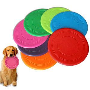 Pet gatto cane giocattolo frisbee silicone 7 colori divertimento creativo reazione di formazione interattivo morso volante resistente piattino