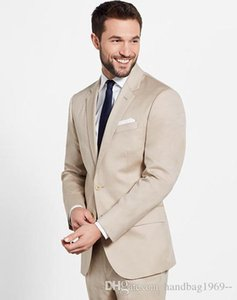 New Arrivals Two Button Groom Tuxedos Notch Lapel Groomsmen Best Man Blazer Mens Wedding Suits (Jacket+Pants+Tie) D:334