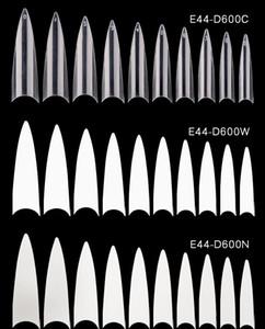 Женщины 600 шт. Французские наконечники для ногтей прозрачные белые ложные ногти ABS Искусственный фальшивый УФ-гель для ногтей Арт подсказки высокого качества