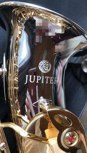 Nueva Júpiter JAS 1100SG Eb Alto Saxophone latón niquelado Cuerpo de Oro Laca Llave mi bemol Música Instrumentos Sax envío