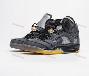 xshfbcl 2020 New fashion Men 5S Basketball Shoes Off 5 white sports high quality sneakers progettista trainers