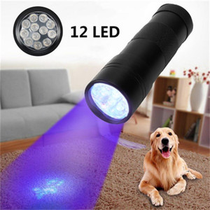 12LED UV 손전등 토치 라이트 nm 인 울트라 바이올렛 빛의 Blacklight UV 램프 토치 배터리를 들어 마커 검사 탐지 빛 주도