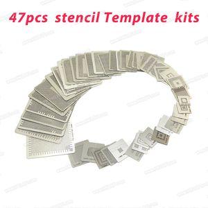 47 pcs Stencil Template Kits Calor Direto para Jogos Template Stencil BGA Reballing Kit de Qualidade Superior freeshipping