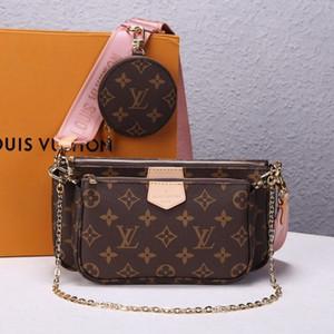 Satış 3 parçalı set tasarımcıları tasarımcı crossbdoy torbaları V moda M44813 klasik üç bir çanta çanta cüzdan cüzdan sikke çanta omuz zinciri