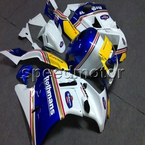 23colors + Botls moto bianco blu carena per HONDA CBR600F2 1991 1992 1993 1994 pannelli motore