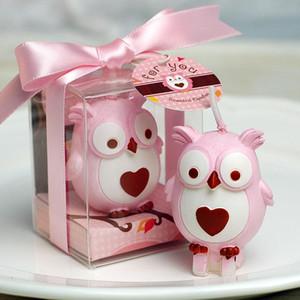 Fiesta de cumpleaños de fuentes del cumpleaños de la vela sin humo de la vela búho pequeña vela decoración de la boda velas perfumadas Azul Rosa