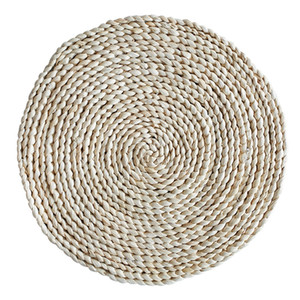 Corn Straw Braided Dining Table Mats Extra Thick Coasters Mat Natural Handmade Woven Table Placemat Insulation Resuable Pad