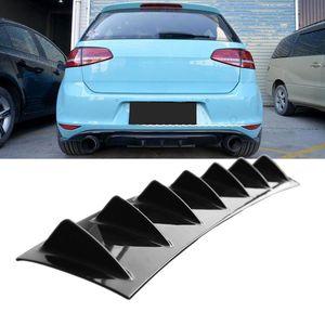 Auto-hintere Stoßstange Abdeckung Gloss Black ABS Cars Kit Heckstoßstange Chassis Deflector Zubehör Auto Fin Shark Art Modification Universal-
