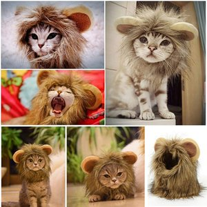 Cats Clothes Lion Mane Cat Costume Lion Hair Wig Cap Dog Costumes for Small Dogs Christmas Halloween Pet Costumes Pet Products