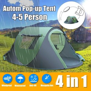 4-5 People Outdoor Automatic Tent Waterproof Windproof -up Sunshade Canopy Camping Hiking