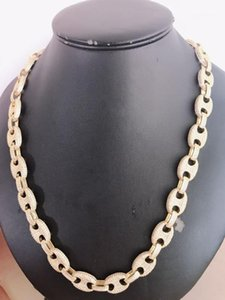 Hip Hop Necklace Classic Japanese Character Cuban Link Chain Full of Zircon Hight Quality Bling Fashion Chains Jewelry