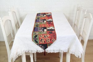 Table Runner Placemat Funny Pumpkin Doily Halloween Table Runners Modern Halloween Decorations for Home Runner 33x180cm
