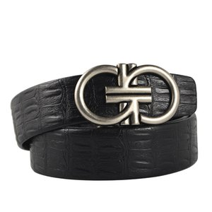 Cintos cinto de fivela automática de alta qualidade do Genuine Leathe preto Homens Belt Automatic Belt cummerbunds Masculino