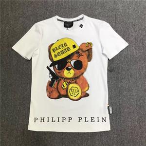 2019 summer luxury T-shirt men's fashion red panda print T-shirt men's clothing Italian brand short-sleeved T-shirt