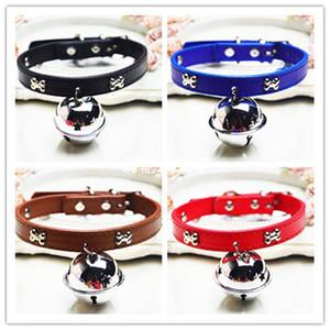 Collare per gatto in pelle Accessori per animali domestici Cane a doppio strato Bone Small Bell Collare Moda di alta qualità Portatile 2 9gg J1