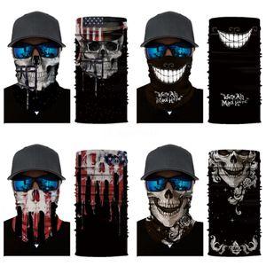 Magic Face Masks Sunscreen Headgear Skull Scarf Summer Outdoor Cycling Bandanas Scarves Face Towel Protective Mask Gga3434 #582#679