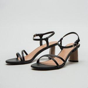 2020 sandalias Summe maduro mujeres de alto talón del tobillo de la hebilla de la correa de la señora zapatos de las sandalias estilo de Europa y América