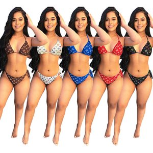 Sommer-Frauen-Marke Bikini-Badeanzug-Modedesigner-Badebekleidung Dame Marke plus Größe Bikini-Badeanzug Sexy Mädchen Strand Anzug Badeanzug 2815