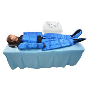 16PCS ضغط الهواء تدليك التصريف اللمفاوي pressotherapy العلاج التخسيس فقدان وزن الجسم السموم الجلد آلة شد