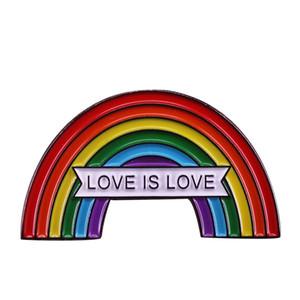 Arcobaleno uguale spilla d'amore omosessuale distintivo dello stesso sesso matrimonio pin regalo gioielli San Valentino LGBT